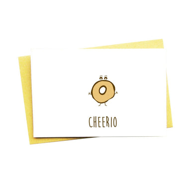 Cheerio Greeting Card - Generic Greeting Cards - Nocturnal Paper - Naiise