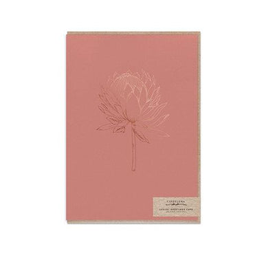 Chestnut King Protea Card - Generic Greeting Cards - Typoflora - Naiise