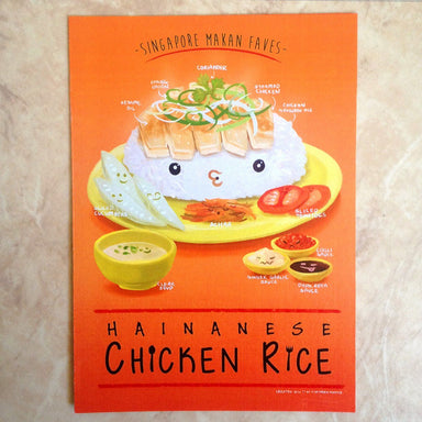 Chicken Rice A4 Poster - Local Prints - Lim Hang Kwong - Naiise