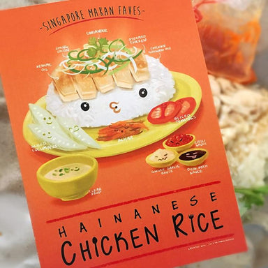 Chicken Rice Postcard - Local Postcards - Lim Hang Kwong - Naiise