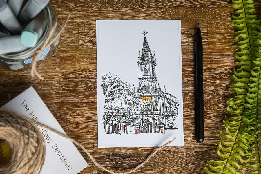 Chijmes Postcard - Local Postcards - Just Sketch - Naiise