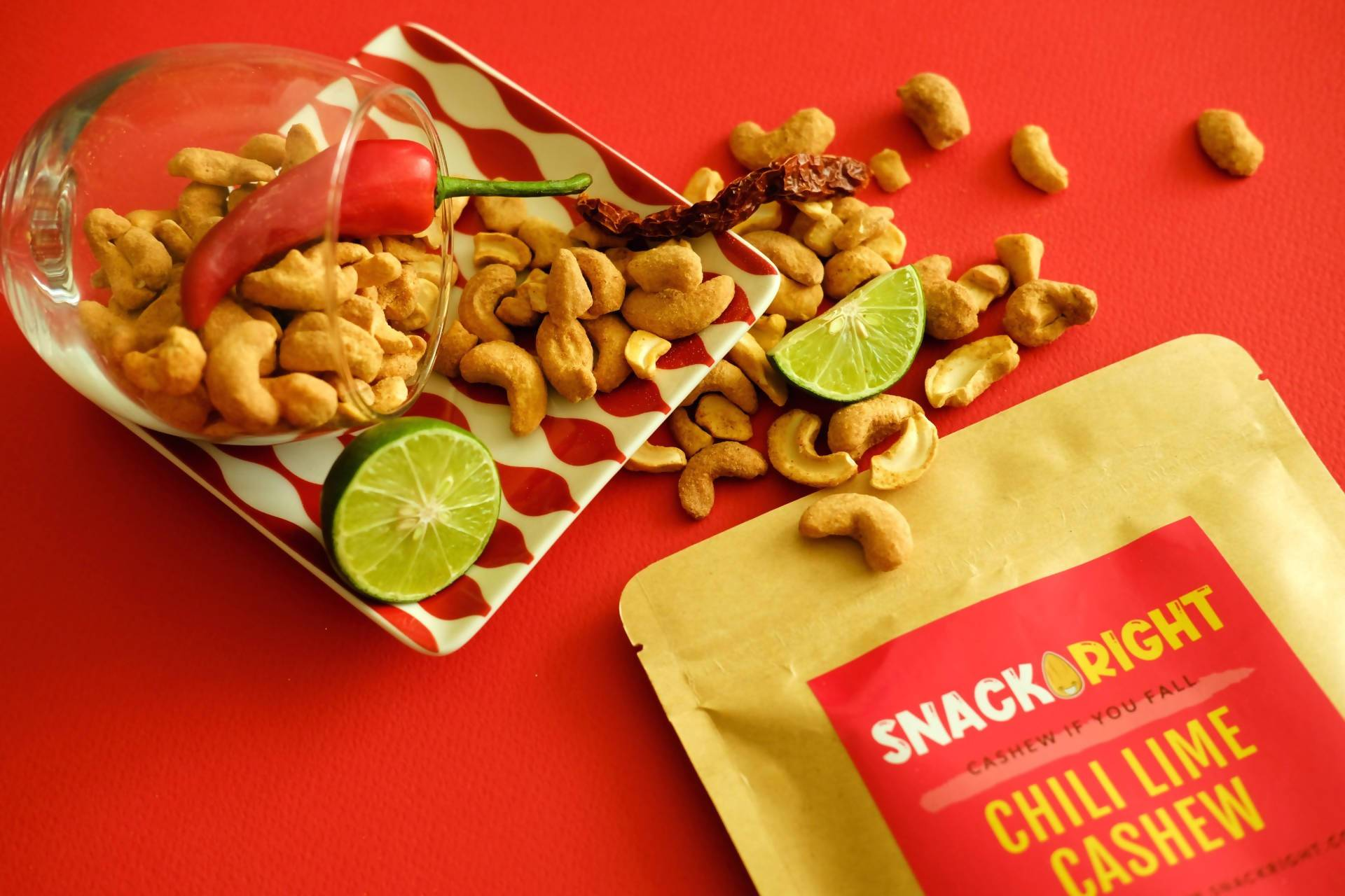 Chili Lime Cashew - Snacks - SnackRight - Naiise