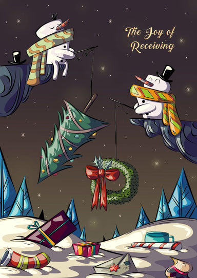 Christimas Card - Snowman Fishing - Christmas Cards - Sot N Wable - Naiise