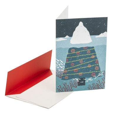 Christmas Iceberg Greeting Card Christmas Cards MULTIFOLIA ATELIER di Rita Girola