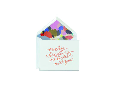 Christmas Is Better With You Greeting Card Christmas Cards Moglea