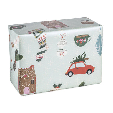 Christmas Joy Wrapping Paper Wrapping Papers MULTIFOLIA ATELIER di Rita Girola