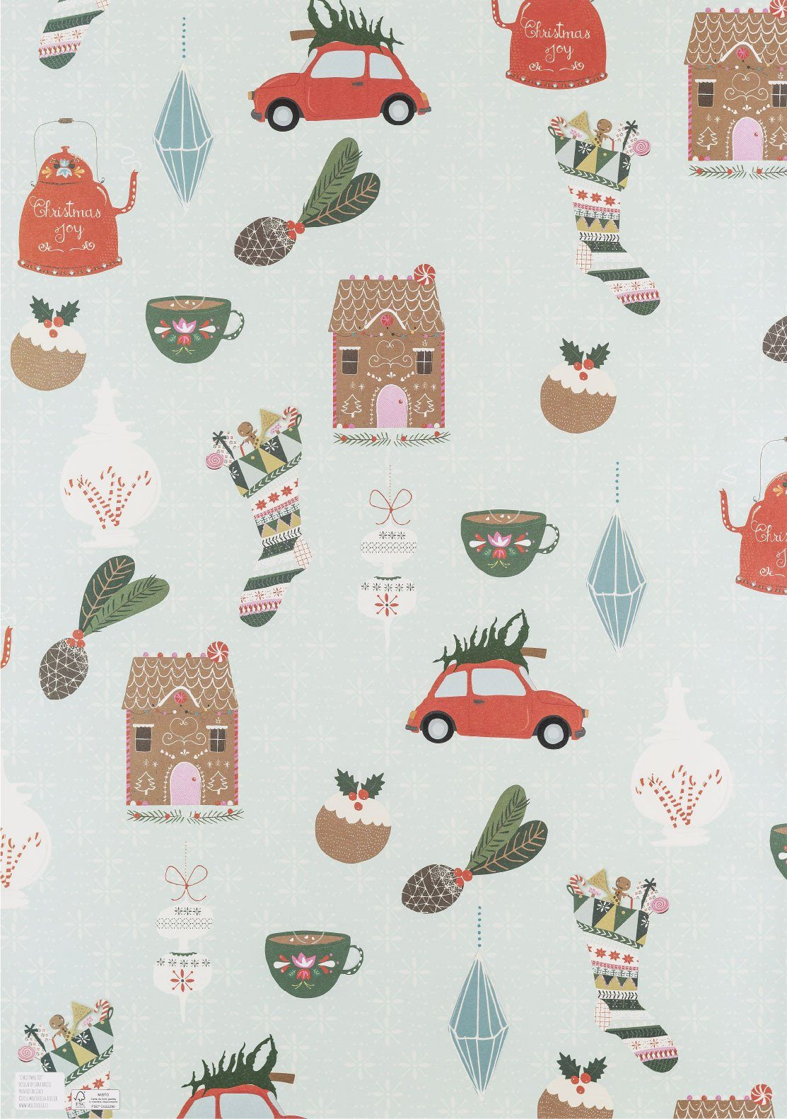 Christmas Joy Wrapping Paper - Wrapping Papers - MULTIFOLIA ATELIER di Rita Girola - Naiise