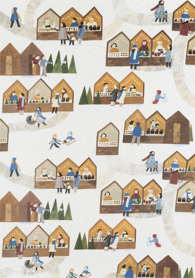 Christmas Market Wrapping Paper - Wrapping Papers - MULTIFOLIA ATELIER di Rita Girola - Naiise