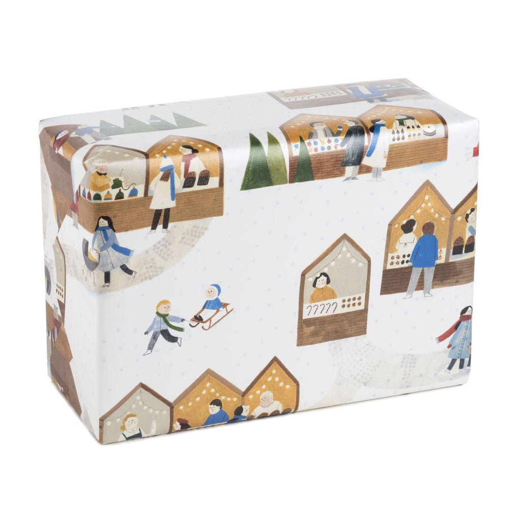 Christmas Market Wrapping Paper Wrapping Papers MULTIFOLIA ATELIER di Rita Girola