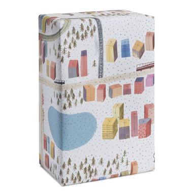 Christmas Town Wrapping Paper Wrapping Papers MULTIFOLIA ATELIER di Rita Girola