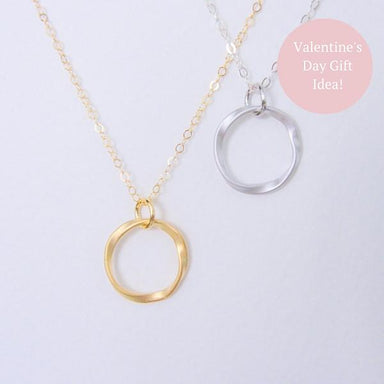Circle of Life Necklace - Sterling Silver - Necklaces - JL Heart - Naiise