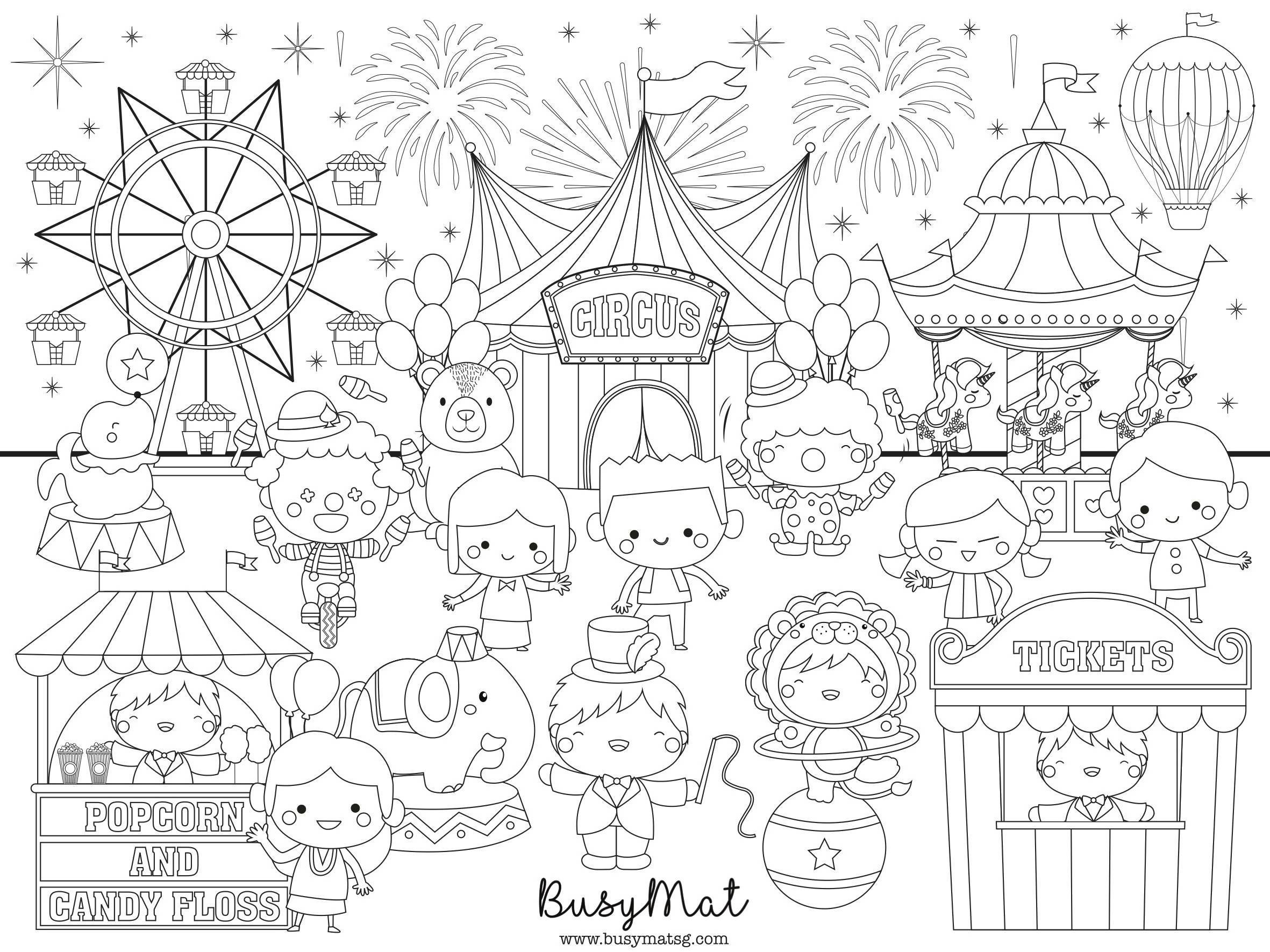 Circus Carnival Busy Mat - Kids Activity Kits - Busy Mat - Naiise