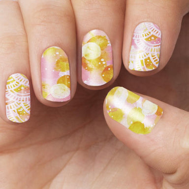Citrus Watercolour Nail Wrap - Nail Wraps - Personail - Naiise