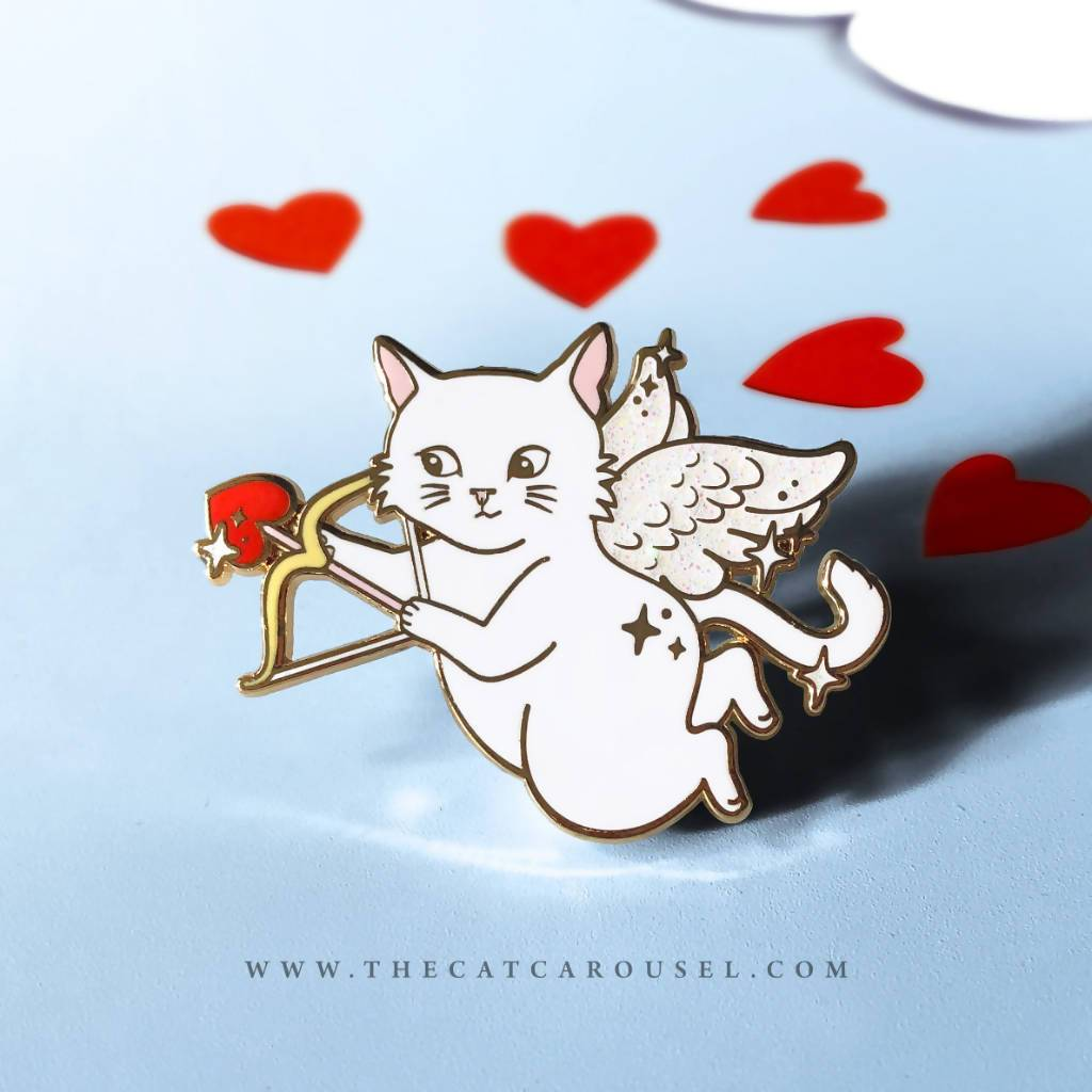 Cupid Cat Pin - Brooches - The Cat Inspired - Naiise