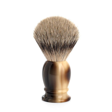 Classic shaving brush, horn brown resin and silvertip badger hair - Shaving Brush - MÜHLE Singapore - Naiise