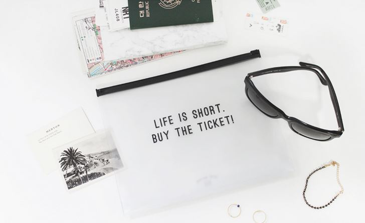 Clear Travel Pouch - Buy The Ticket Pouches Dear Maison