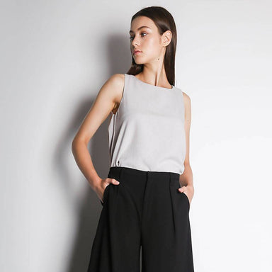 Cleo Flare Top in Silver City Women's Tops Salient Label