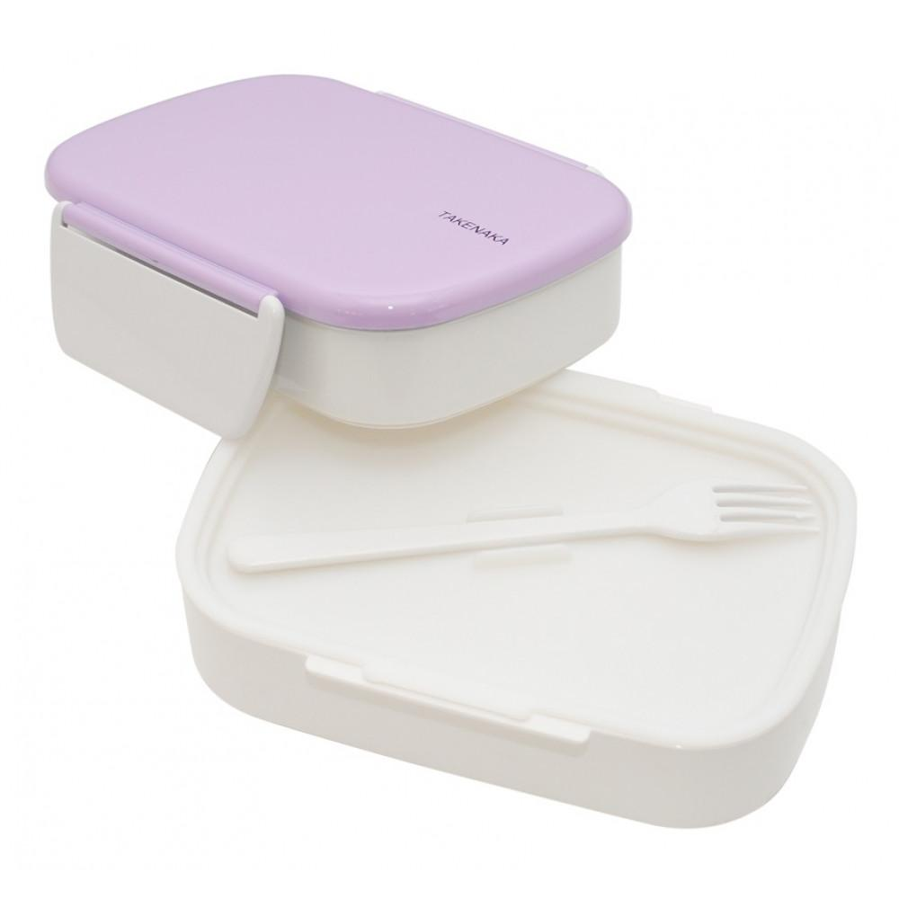 Clip Double Layer Bento Lunch Box - Lavender Lunch Boxes Takenaka