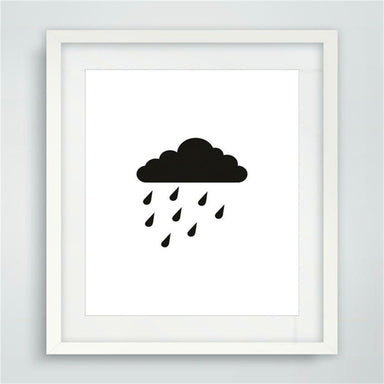 Cloud and Raindrops Canvas - Home Decor - Charlie and Skye - Naiise