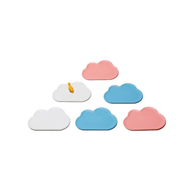 Cloud Coaster Set Coasters Qualy Blue & Pink