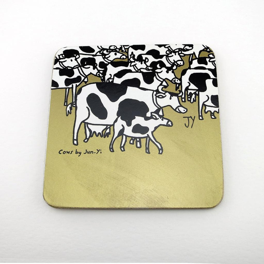 Coasters - Cow Coasters The Animal Project Gold