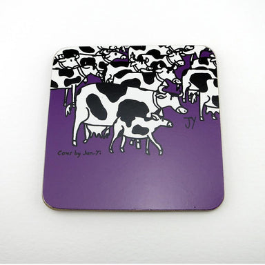 Coasters - Cow Coasters The Animal Project Plum