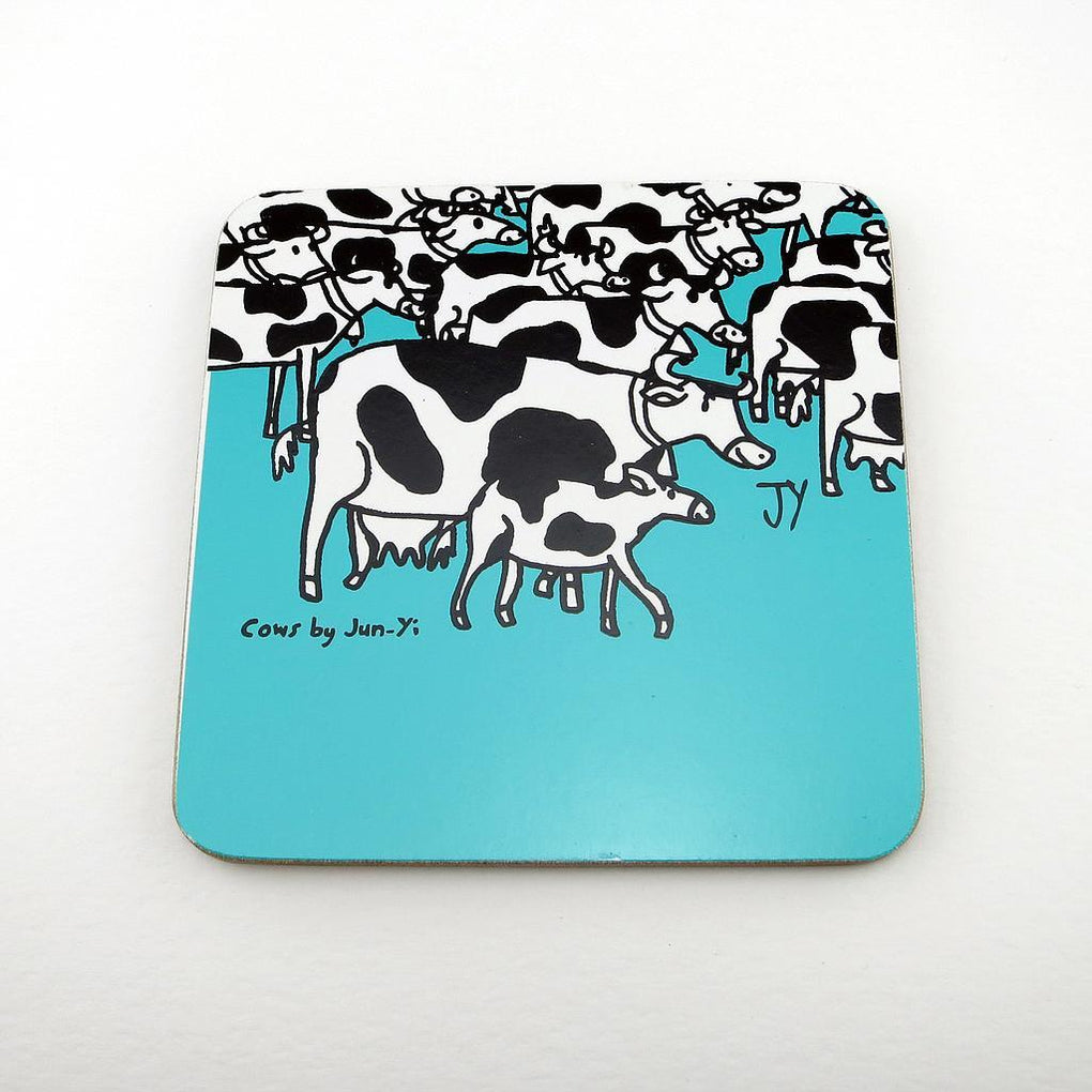 Coasters - Cow Coasters The Animal Project Turquoise