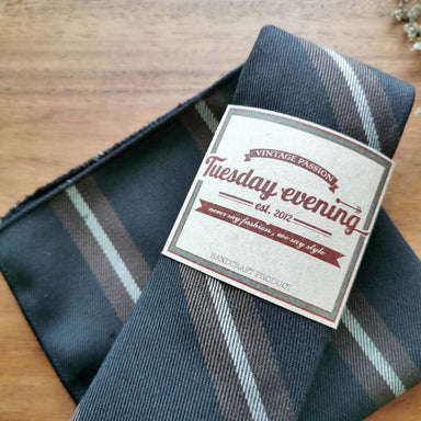 Coffee Brown Stripe Set - Ties - Tuesday Evening - Naiise