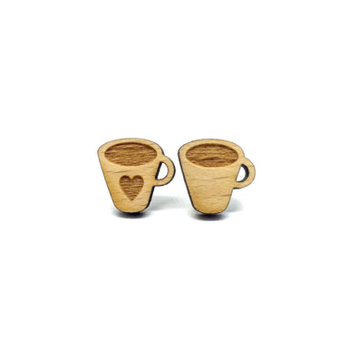 Coffee Lovers Laser Cut Wood Earrings - Earrings - Paperdaise Accessories - Naiise