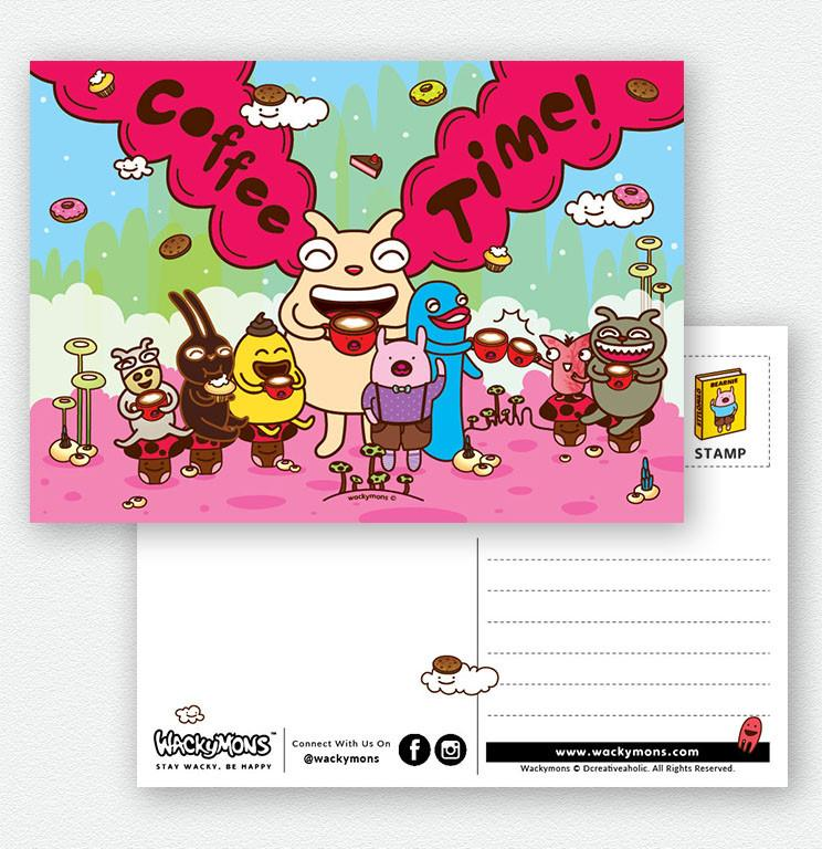 Coffee Time Post Card - Postcards - Wackymons - Naiise