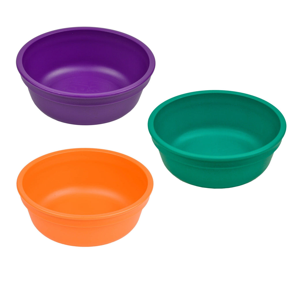 Colorful Set of 3 Bowls Children Cutlery Re-Play Royale