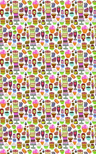 Colourful Desserts Wrapping Paper Wrapping Papers Fevrier Designs