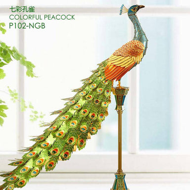 Colourful Peacock - Piececool Metal Models - DIY Crafts - Blue Stone Craft - Naiise