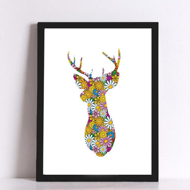 Colourful Stag Canvas - Canvas Prints - Charlie and Skye - Naiise