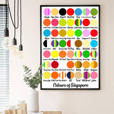 Colours of Singapore (Circles) Print New Arrivals Big Red Chilli