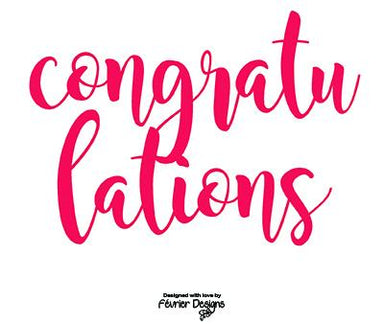 Congratulations Red Foil Card Congratulations Cards Fevrier Designs