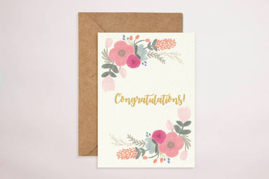 Congratulations(Floral) Card Congratulations Cards YOUNIVERSE DESIGN