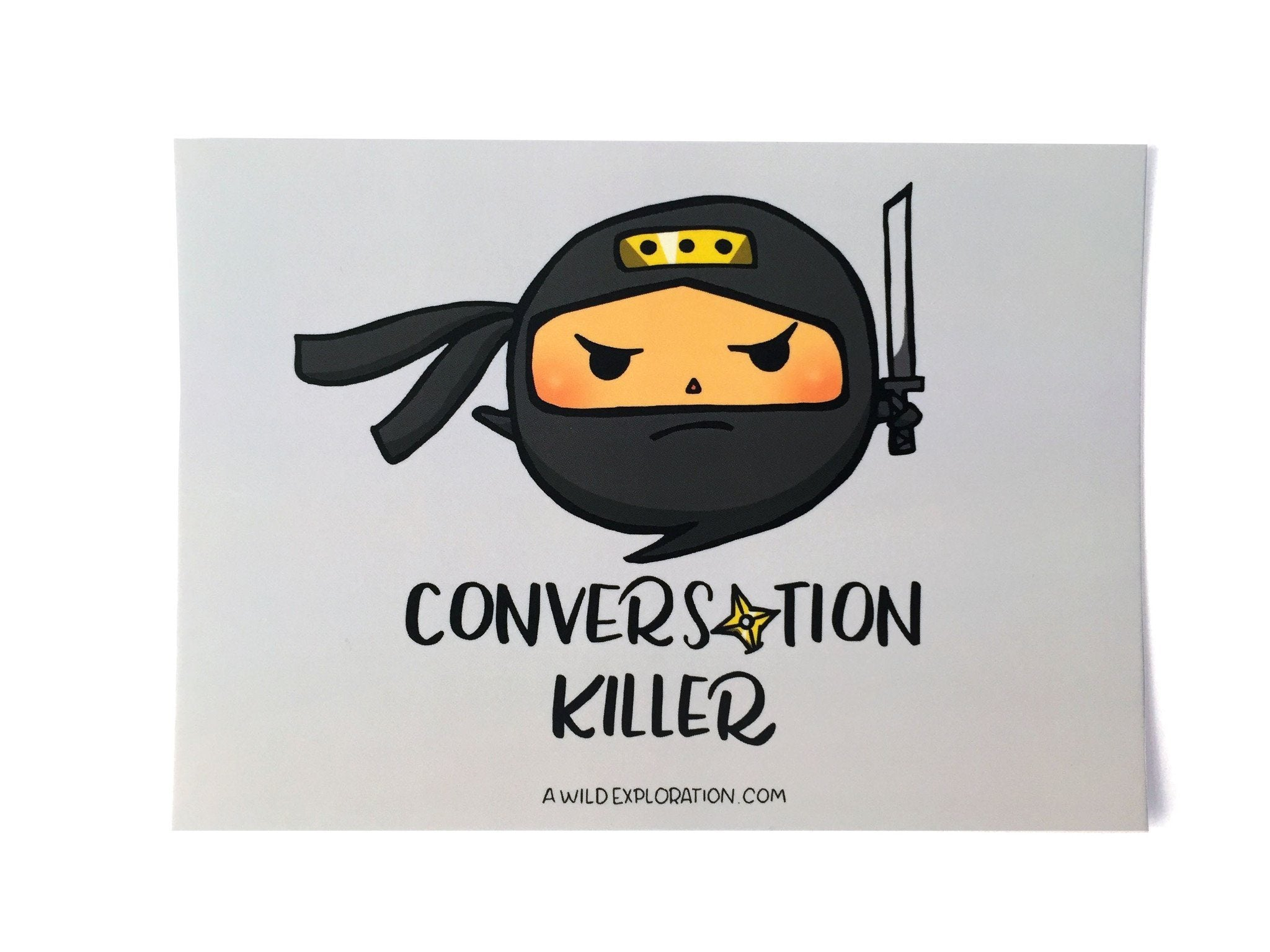 Conversation Killer Postcard - Generic Greeting Cards - A Wild Exploration - Naiise