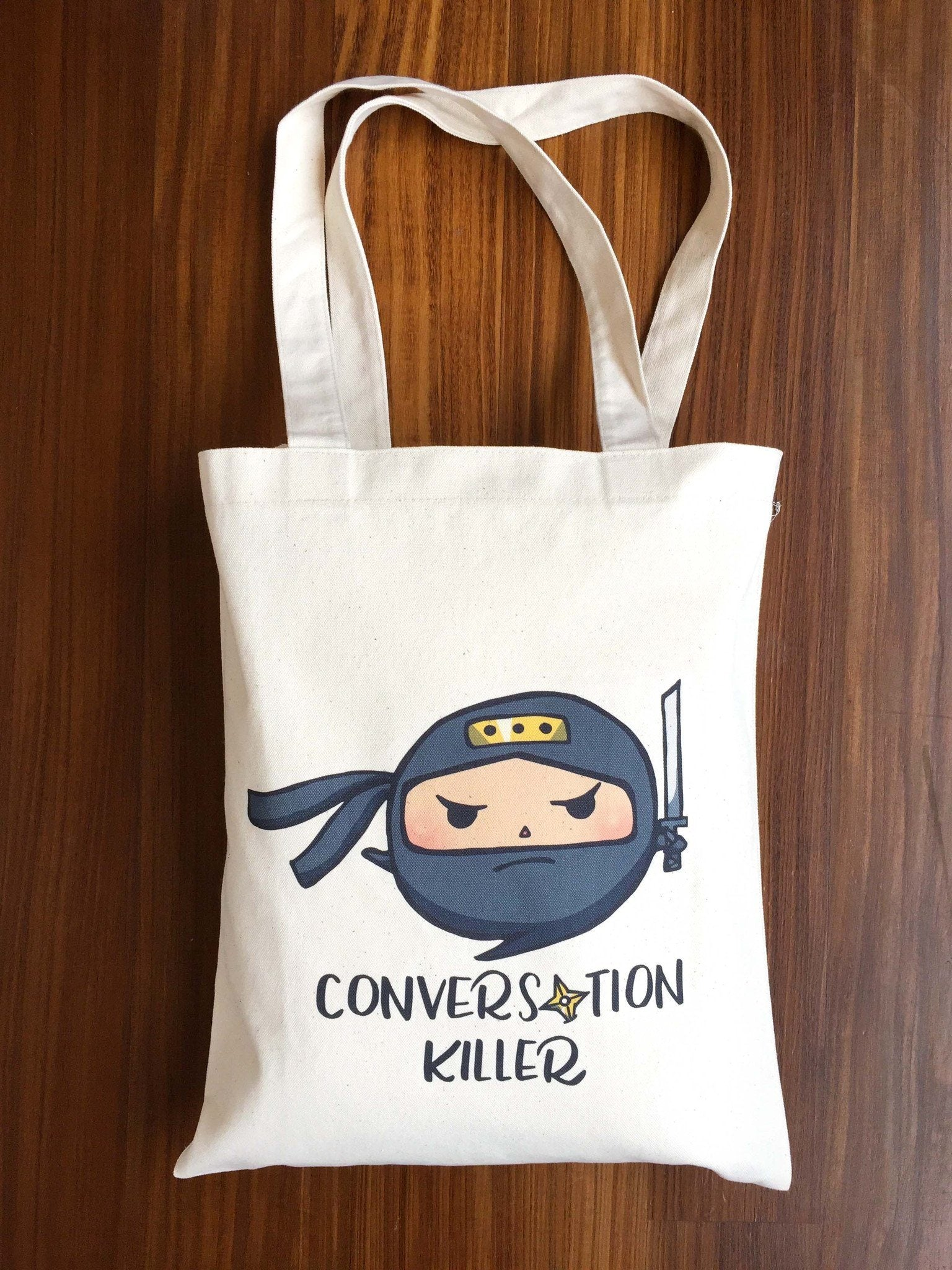 Conversation Killer Tote Bag Tote Bags A Wild Exploration