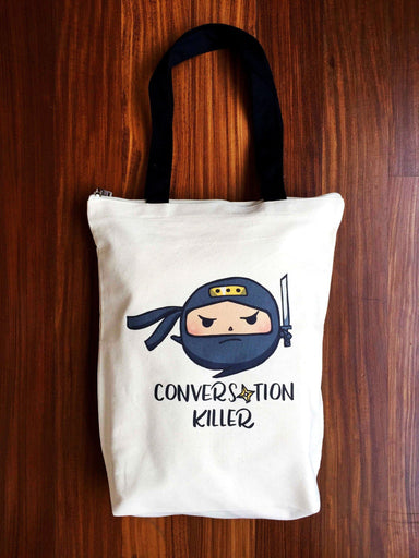 Conversation Killer Zip Tote Bag - Tote Bags - A Wild Exploration - Naiise
