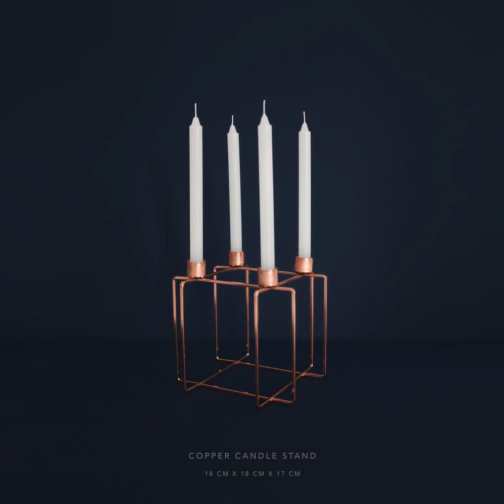 Copper Candle Stand Home Decor Comme Home
