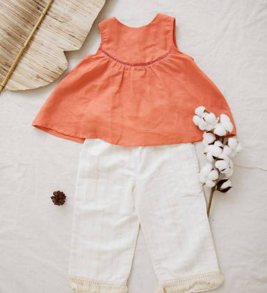 Coral Set (cotton linen) - Kids Clothing - Little Happy Haus - Naiise