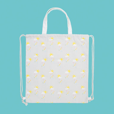 Cotton Bag - Raining Rainbows Tote Bags xhundredfold