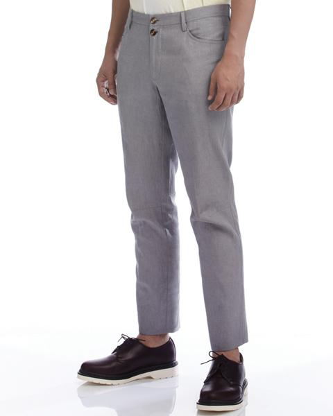 Cotton slim grey biker pants(TR1200) Men's Pants WYKIDD