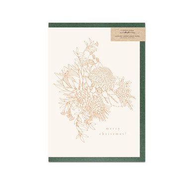 Cream Merry Christmas Card - Christmas Cards - Typoflora - Naiise