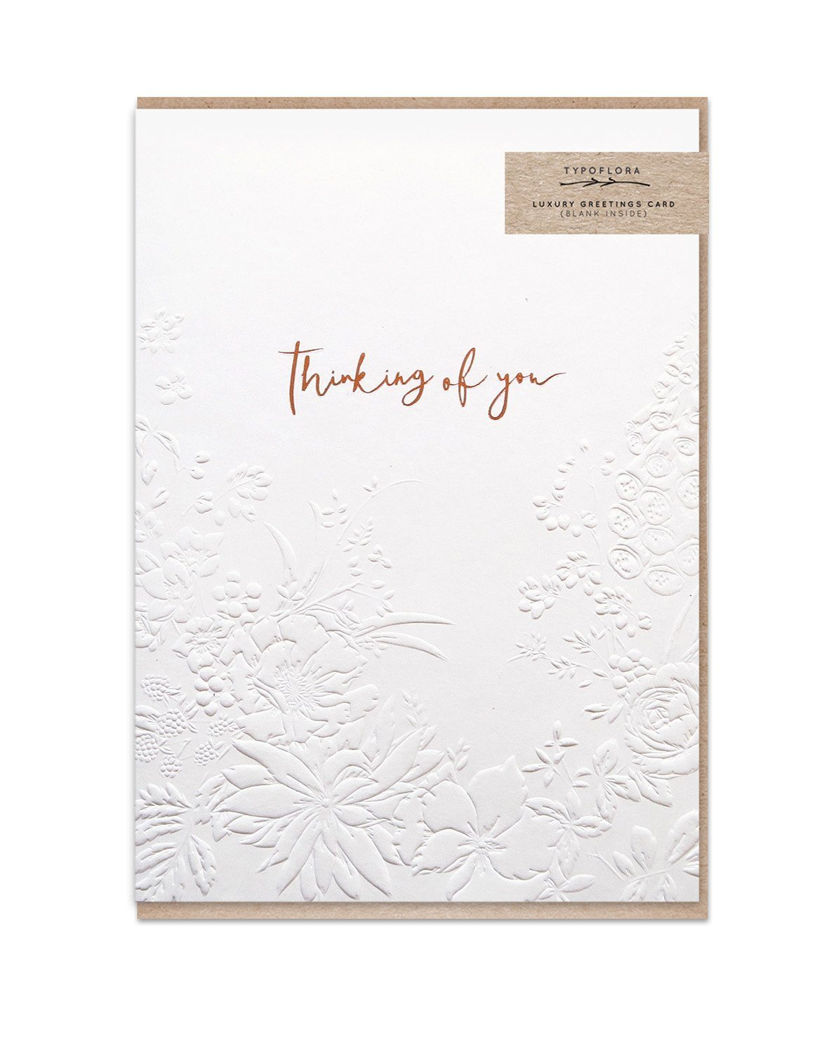Cream Thinking Of You - Love Cards - Typoflora - Naiise