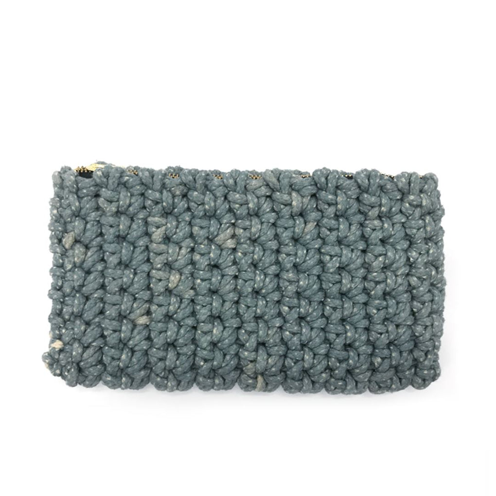 Crochet Clutch Local Clutches Indie Mama Ash Grey