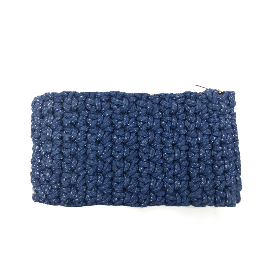 Crochet Clutch Local Clutches Indie Mama Blue