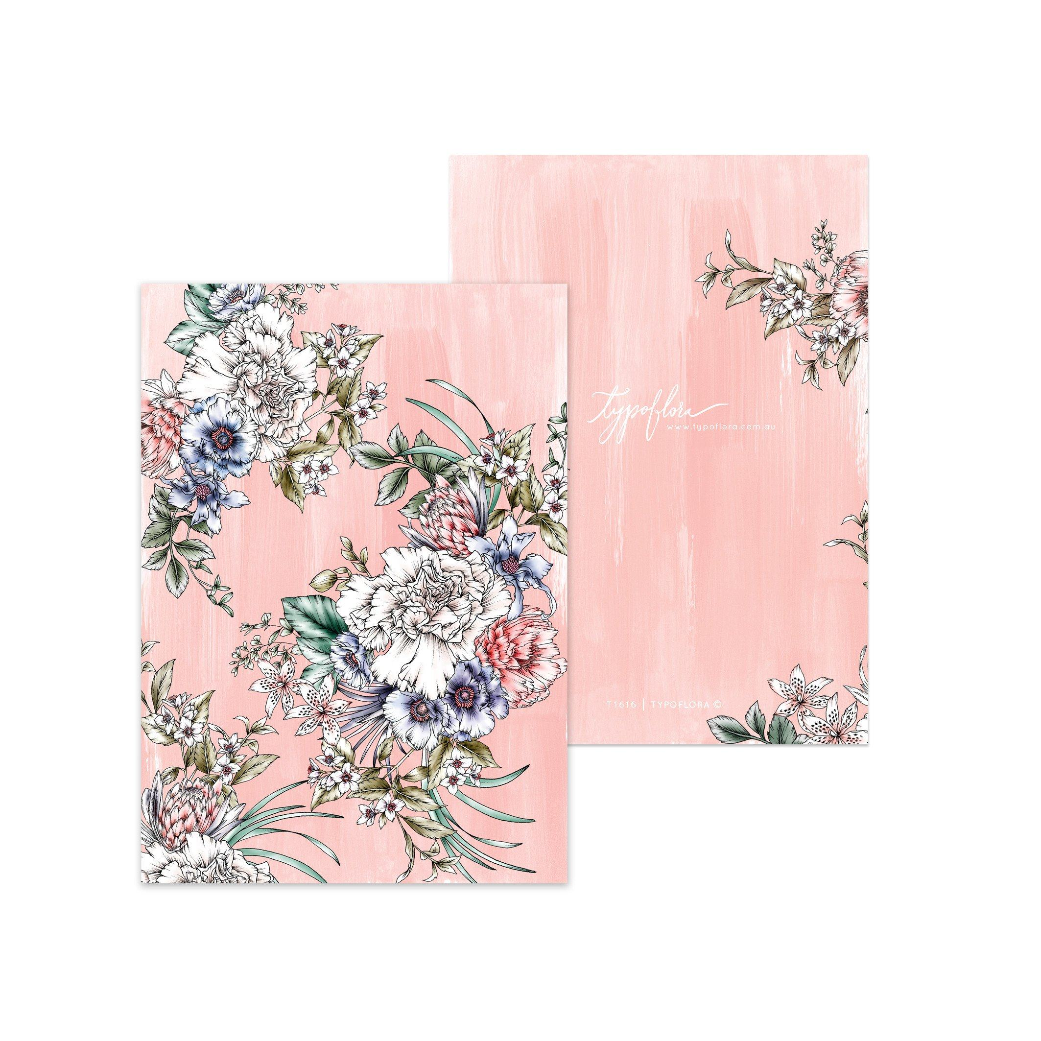 Croral Bouquet Pocket Notebook - Notebooks - Typoflora - Naiise