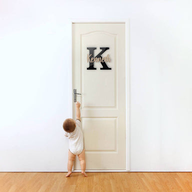 Custom Initial + Kids Name Signage - Personalised Signages - SHOPKUSTOMISE - Naiise